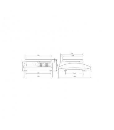 Balanza comercial Marte 10 V4 ILC con impresora de tickets y etiquetas