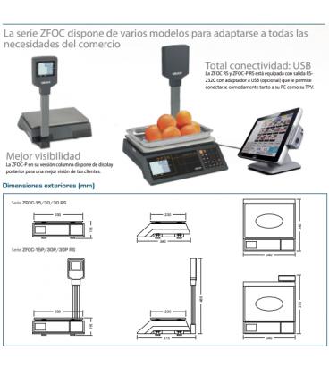 Balanza comercial sin impresora serie ZFOC
