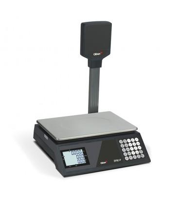Balanza comercial sin impresora serie ZFOC 15P con torre
