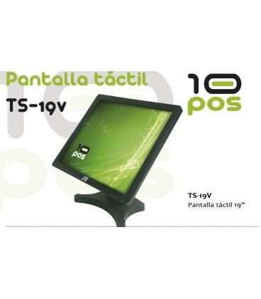 """PANTALLA 10POS TFT TÁCTIL 19"""" USB NEGRO VESA"""