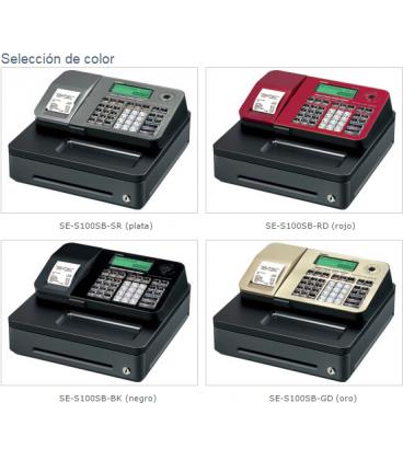 Caja registradora Casio SE-S100 Plata
