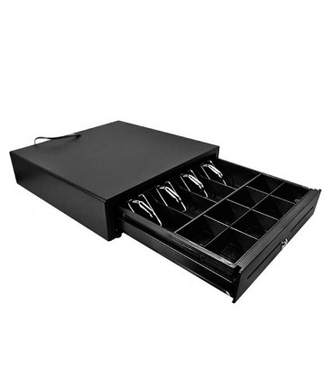 Pack IMP. TERMICA P80-US USB/RS232 NEGRA + CAJON ELECTRICO POS-410 1,5 M RJ NEGRO