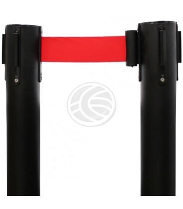 Poste separador de cinta extensible de 320x63x910mm