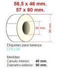 Etiquetas para balanzas Epelsa 56,5 x 46 caja 56.000 etiquetas