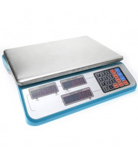 Balanza económica mostrador de sobremesa con bandeja de 335 x 230mm báscula 30 Kg rojo o azul