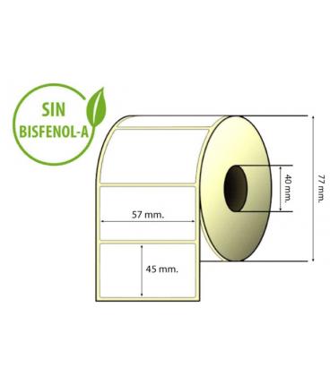 Etiquetas térmicas aptas para balanzas EPELSA caja de 45 rollos 57 x 45