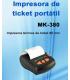 Impresora MUSTEK MK-380B  portátil con Conexión Bluetooth.