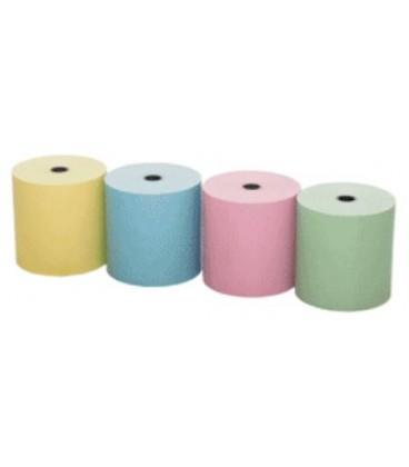 Rollos de Papel Térmico Colores Surtidos 80×80 Caja de 48