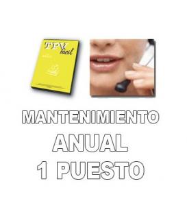 Mantenimiento anual para TPVFÁCIL BÁSICO para 1 puesto independiente