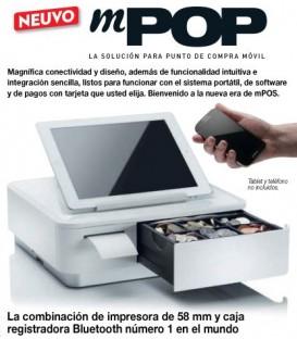 Caja registradora TPV mPOP Combinación de impresora y cajón