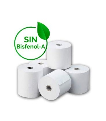 Rollos de papel térmico 80 x 80 mm caja de 48 rollos
